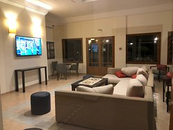 The pool area and lounge area