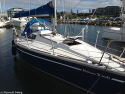 Meltemi Winds - our delightful Westerly GK29 dsailing yacht - available for bareboat charter at Plymouth Yacht Charter.