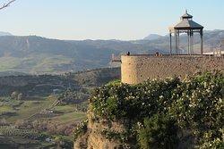 The Mirador of Paseo Blas Infante viewed from the Mirador de los Viajeros Romanticos