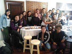Huespedes de un Curso de intercambio, haban brasileros, chlenos y de toda Bolivia