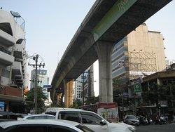 Skytrain along Sukhumvit Road
