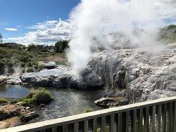 Papakura in full eruption