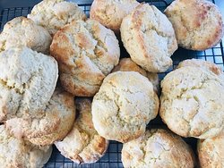 Rainbow Falls Tea House bake scones every day, fresh, they are often served straight out the oven and taste amazing.