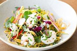 Bok Choi & Tiger Prawn Salad
