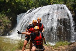 """For many outdoor enthusiasts, it's almost assumed that after a day of adventure, beer 🍺 🍺 🍺 🍺 is the best choice.  """"Beer brings people together and makes us take a moment to relax and converse about how fun the event was"""" #adventuredalat #canyoningdalat #outdooractivitydalat"""