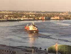 Lovely hotel on the mighty Mississippi