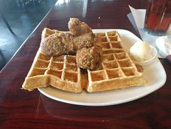 Chicken and waffles 😑😑😑😑😑
