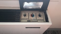 Loud, ancient and poorly operating heating and a.c. unit from the '70s. Wow!