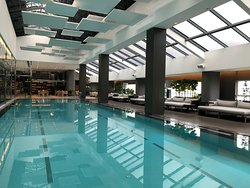 Swimming pool that attach to the restaurant...