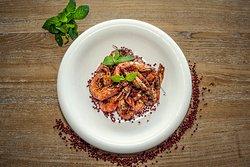 Camarão com Pimenta Vermelha