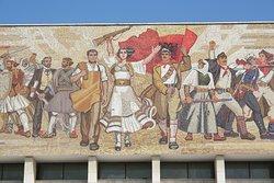 il mosaico in Skanderbeg Square