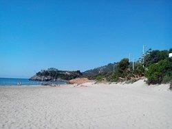 Playa muy comoda