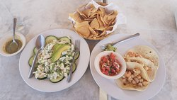Conch ceviche and shrimp tacos