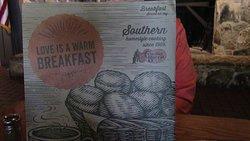 Large breakfast menu