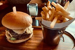 Blue Cheese & Red Onion Burger