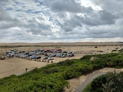 Parking for the sand dunes.