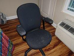 VERY dirty desk chair!