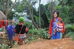 Beautiful ladies in the Lahu village