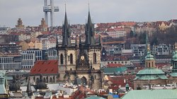 The Church of Our Lady before Tyn as seen from Prague Castle