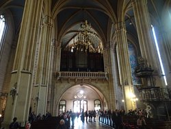 Stylish cathedral in Zagreb