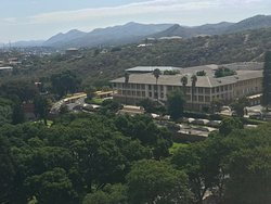 Views over the Namibian Parliament.