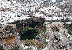 Baatara waterfall north of Lebanon