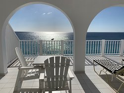 Just part of our enormous room deck overlooking the ocean