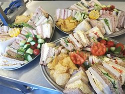 A selection of sandwiches for special occasions.