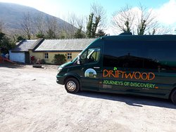 Driftwood tours visiting our farm