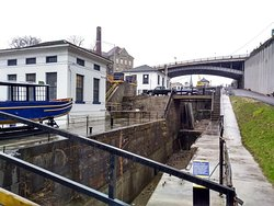 Part of the walking tour of historic Lockport that begins at the Erie Canal Discovery Center.