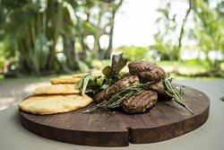 Homemade Lamb Kufta with Pita Bread  © James Gifford