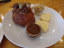 German Pork Knuckle, meat was too dry.