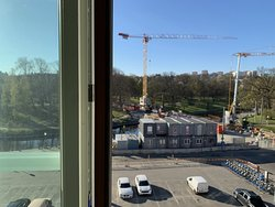 View from my room: a busy and noisy construction site