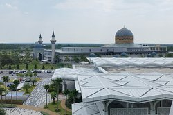View from my room - the Convention Center and the Sepang Mosque