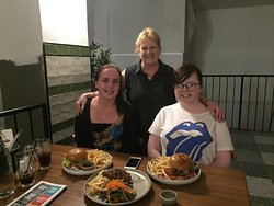 me and my grandaughters and the great food at southern cross