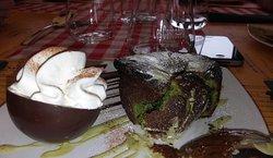 délicieux moelleux choco/pistache