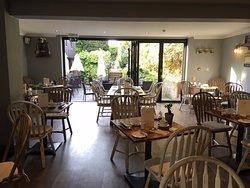 Breakfast room looking onto garden