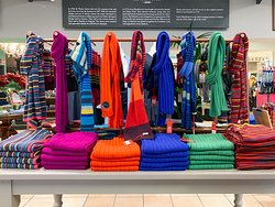 Scarves in many colors.