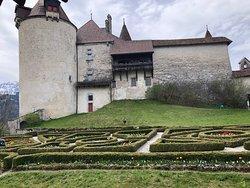 Scorci del castello di Gruyeres
