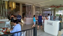 Entrance to buffet. You have choice to eat outside or inside (with air conditioner).