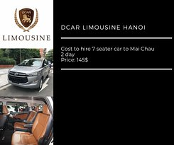 Cost to hire 7 seater car to Mai Chau 2 day