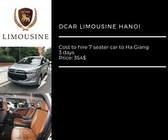 Cost to hire 7 seater car to Ha Giang 3 days
