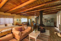 Ruby Star farm cottage living area and fire place