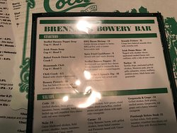 Brennan's Bowery Bar & Restaurant - menu