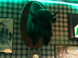 Brennan's Bowery Bar & Restaurant - cool buffalo head