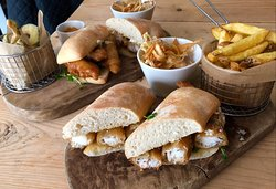 The best home-made fish finger sandwiches ever!