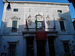 The main entrance of the Teatro de la Fenice
