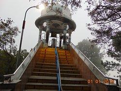 The stairs to the glass box f Srivari Paadalu