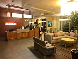 Front desk and lounge