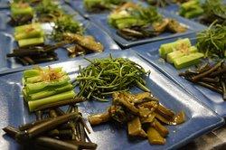 山菜料理のサービスは4月下旬から5月末頃まで。 リピーターのお目当てです